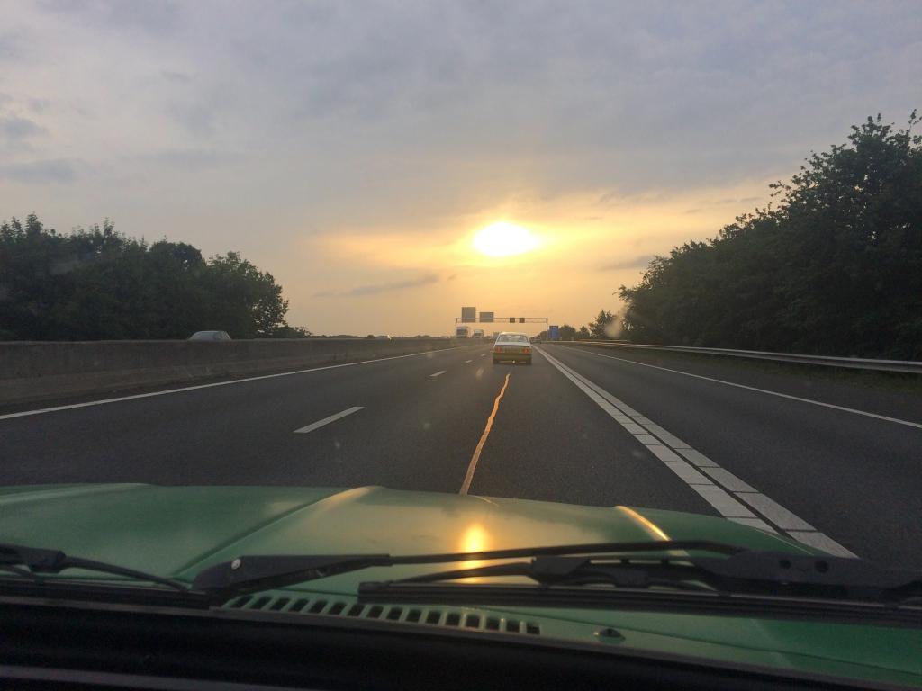 Touren bij zonsondergang