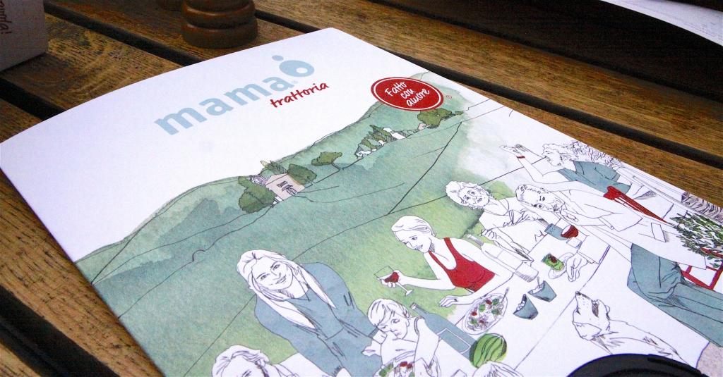 De menukaart van Trattoria Mama