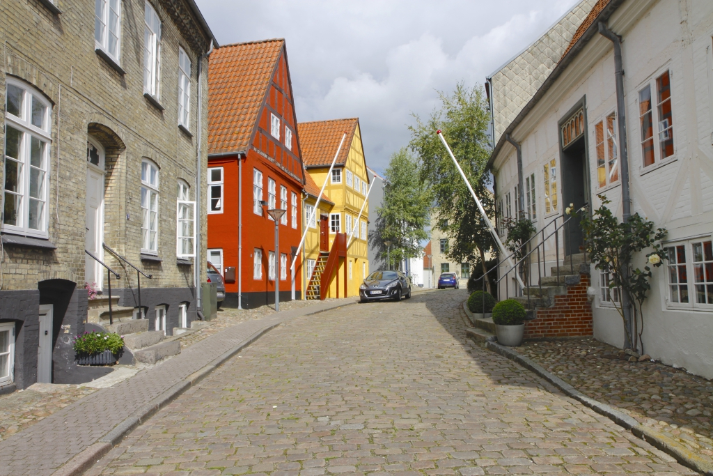 De gekleurde huizen van Haderslev