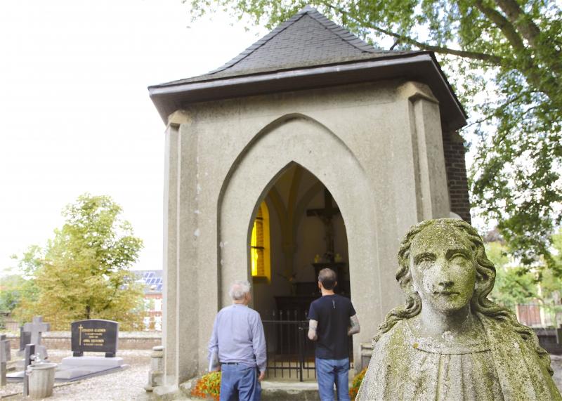 Het laatste overblijfsel van de kerk van Cuypers in Melick, de rest is vernietigd in de Tweede Wereldoorlog.