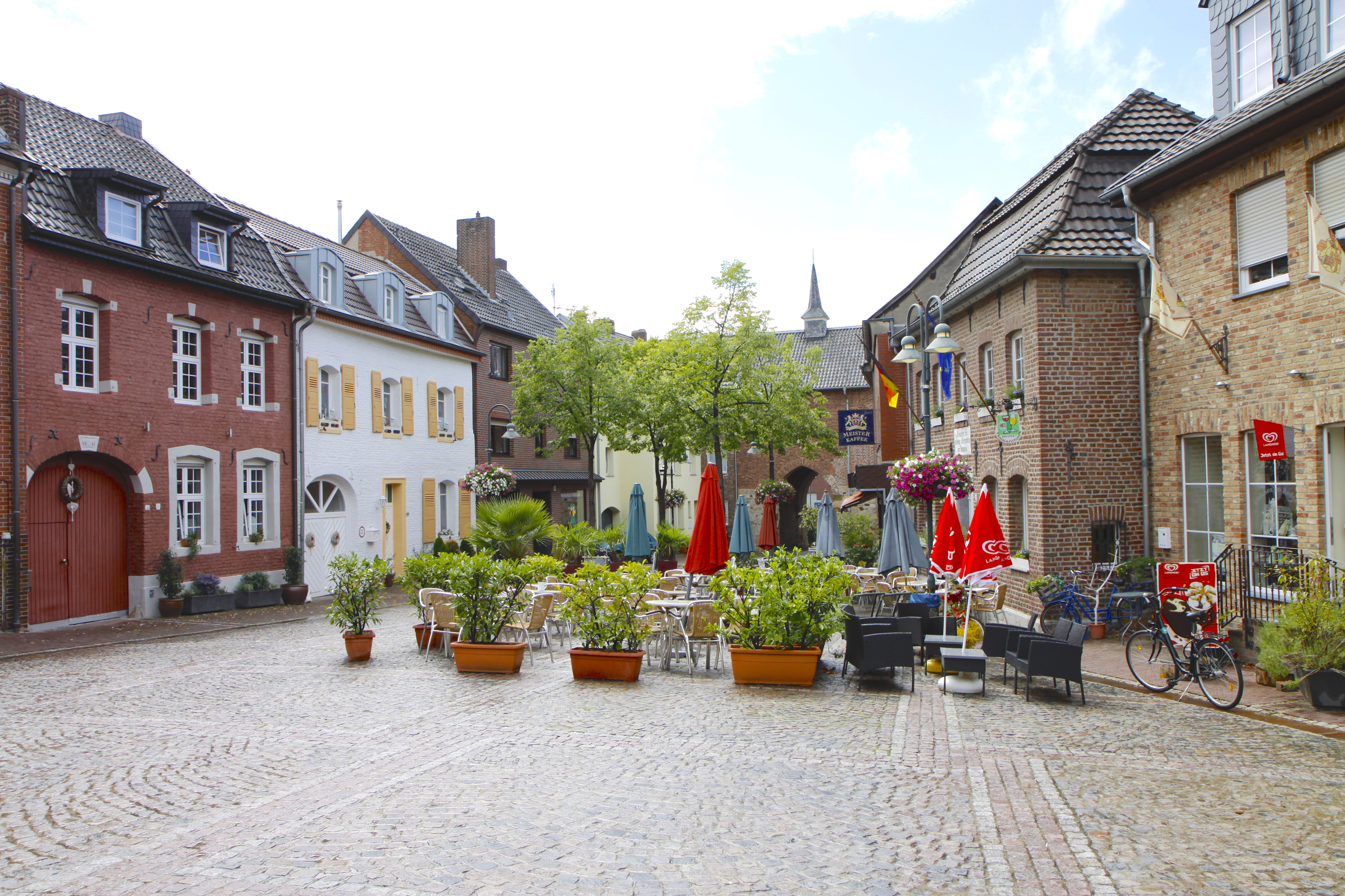 Het centrum van Brüggen