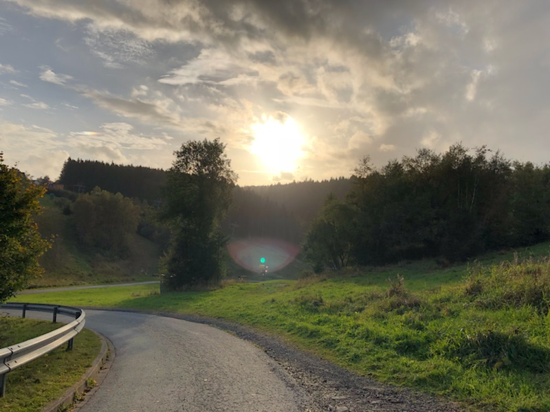 Tussen het Landalpark en het dorp Winterberg.