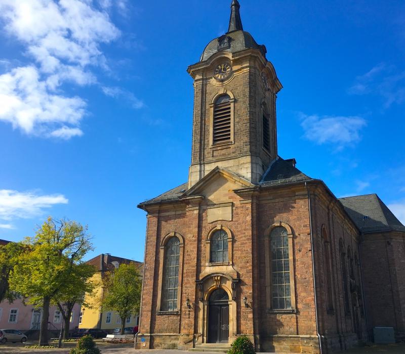 De kerk van Bad Arolsen.