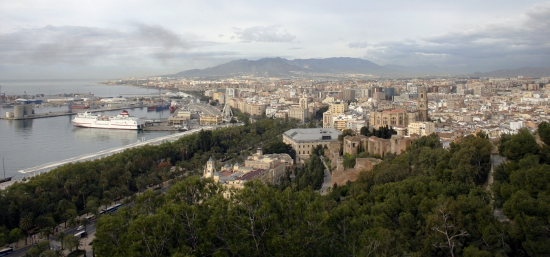 Het uitzicht vanaf het Alcazaba.