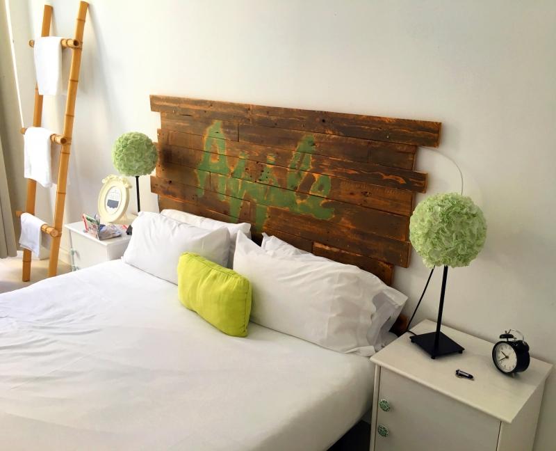 De kamer in Dulces Dreams Hostel.