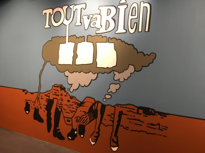 Moderne kunst in Centre Pompidou.