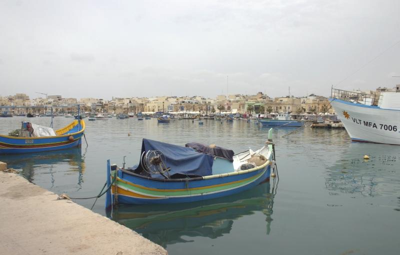 De haven van Marsaxlokk.