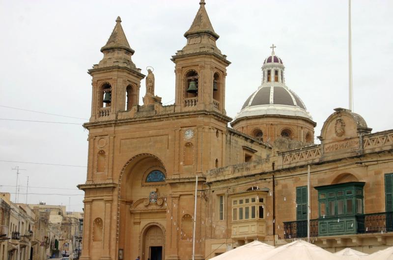 De kerk van Marsaxlokk.