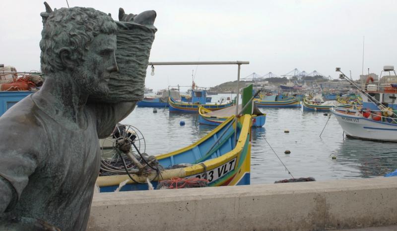 Het vissersdorp Marsaxlokk.