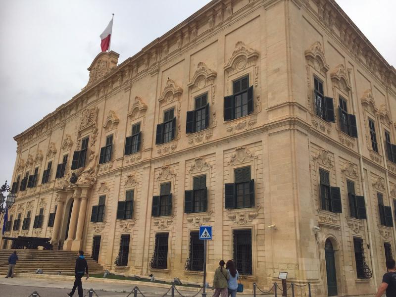 Het centrum van Valletta.