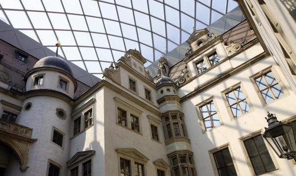 De binnenplaats van het Residenzschloss.