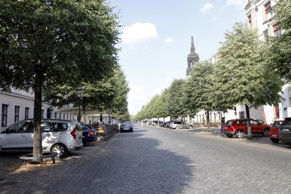 Brede, beklinkerde straten in Neustadt.
