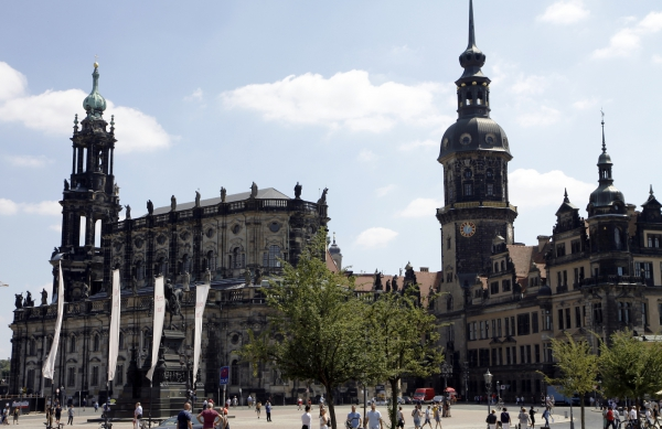 Het centrum van Dresden