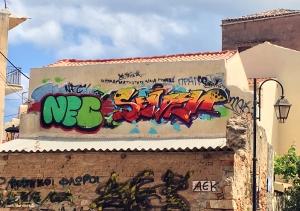 In dit geval fleurt de graffiti de stad nog meer op.