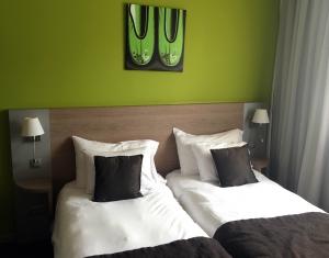 Het hotel in Waterloo.