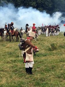 De soldaten op het slagveld.