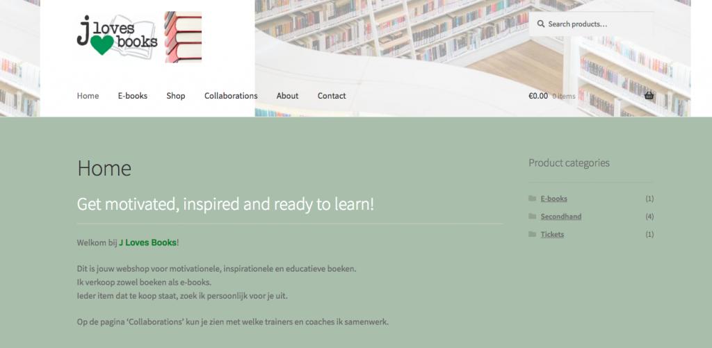 De website J Loves Books