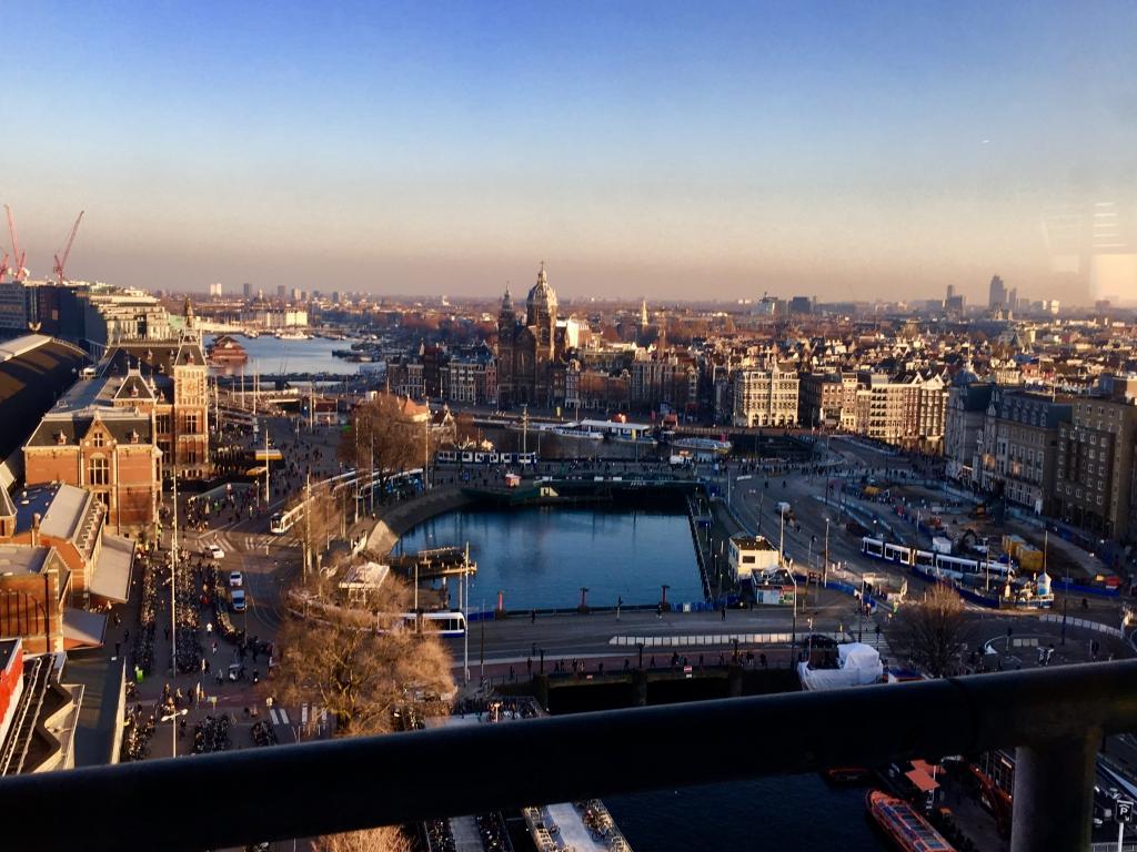 Het uitzicht over Amsterdam