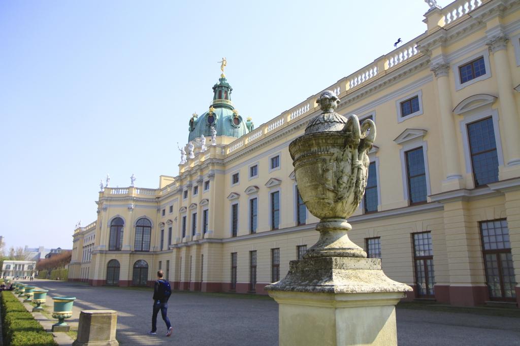 De achterzijde van Schloss Charlottenburg