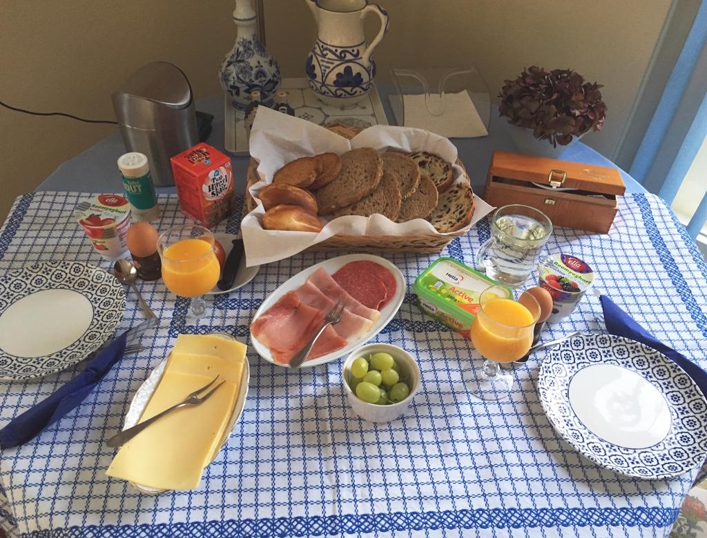 Het ontbijt bij De Noordenberg.