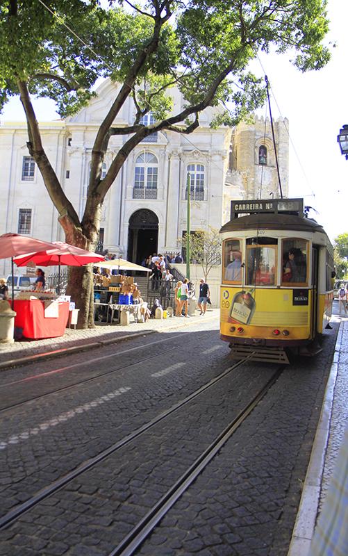 De binnenstad van Lissabon
