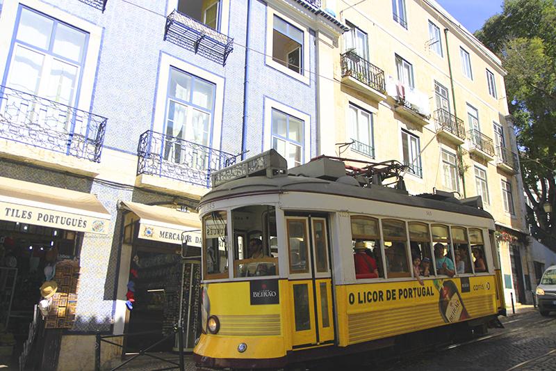 De beroemde gele tram
