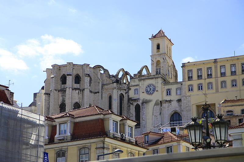In de binnenstad van Lissabon