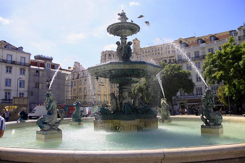 De fontein van Rossio