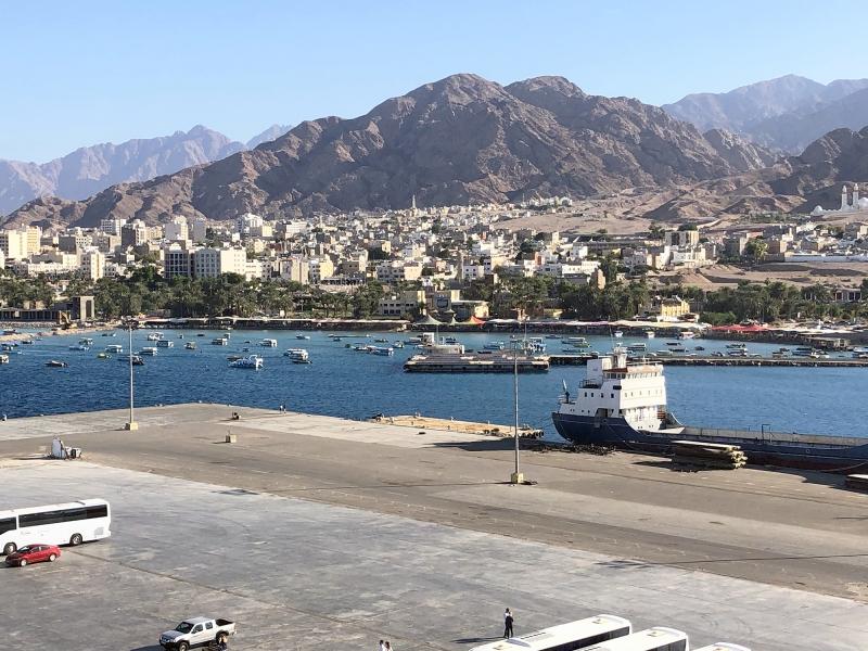 De havenstad Aqaba