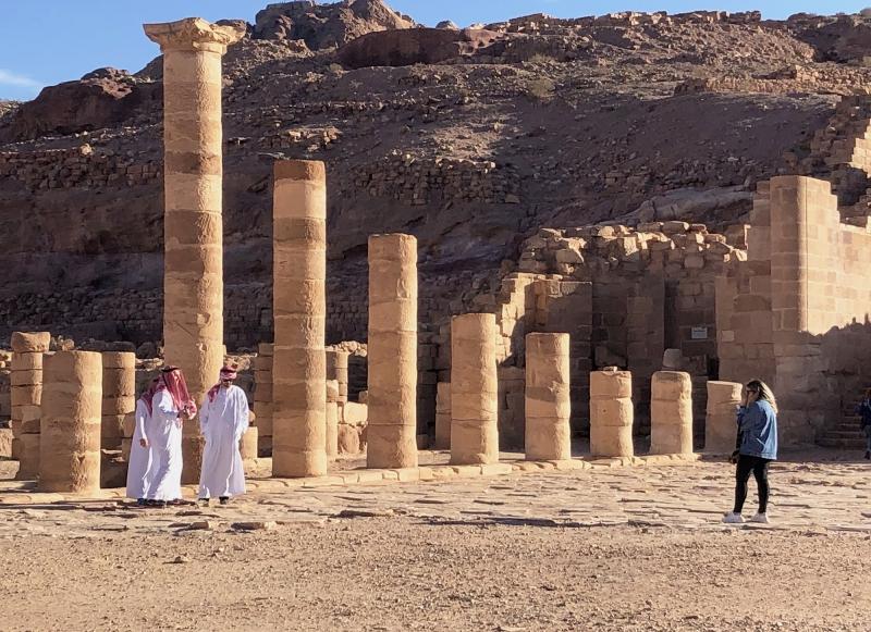 Het Romeinse aandoende deel van Petra