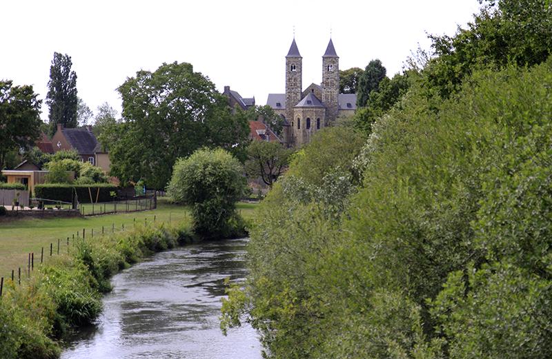 De torens van de basiliek van Sint Odiliënberg