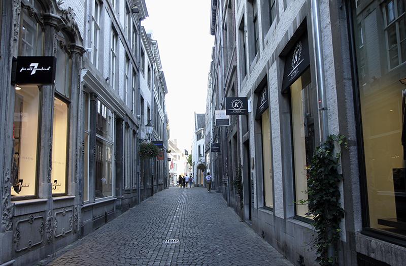 De deftige Stokstraat in Maastricht