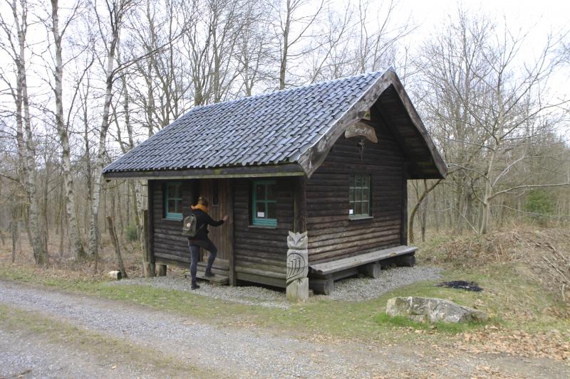 Even pauze bij de hut