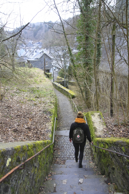 De trappen naar Monschau