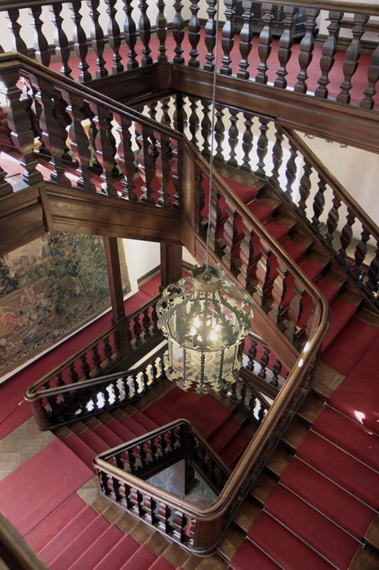 De wenteltrap van Schloss Homburg