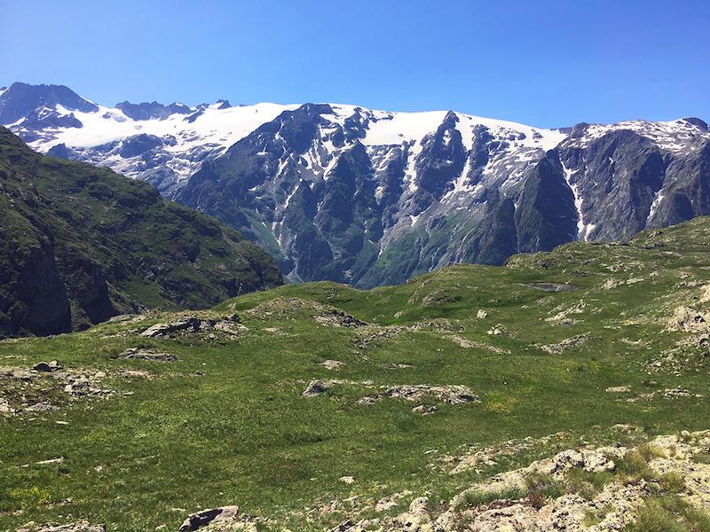 Uitzicht op het Massif des Ecrins