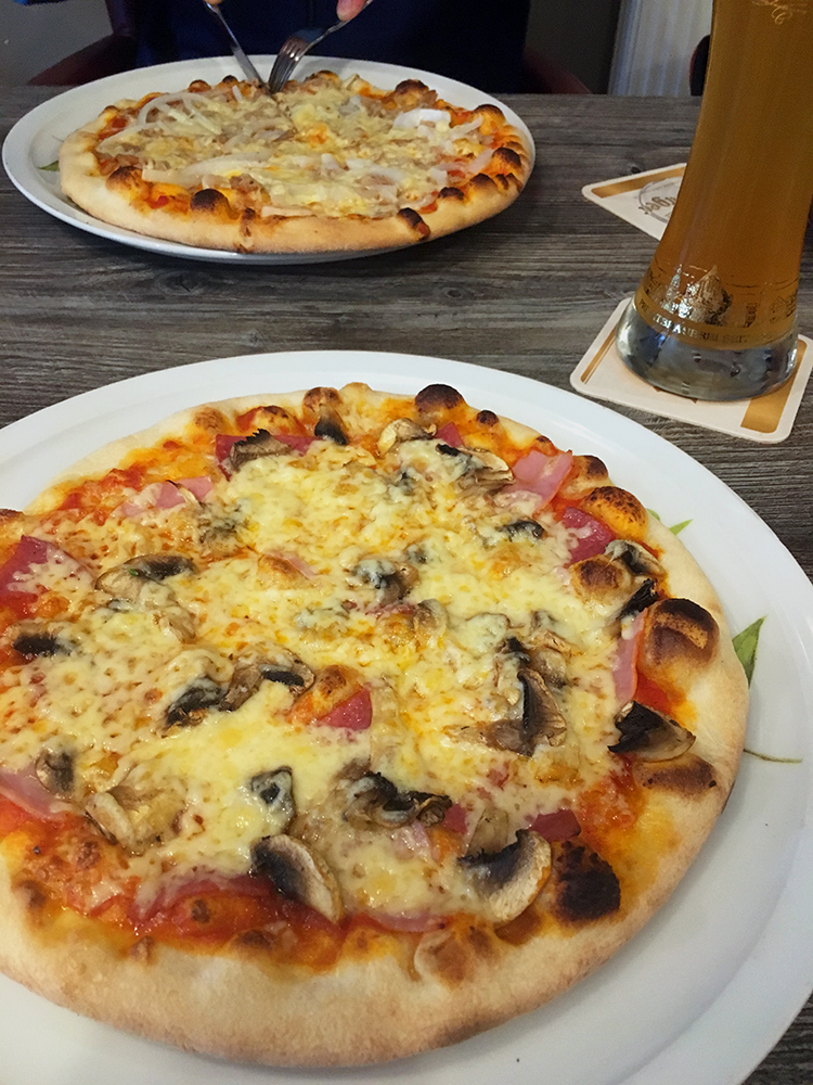 Pizza en bier