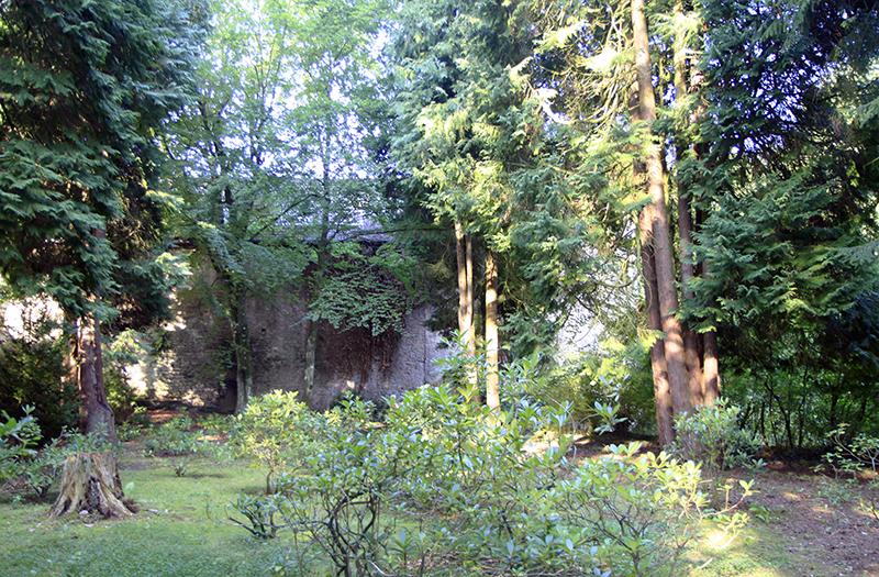 De tuin van het klooster