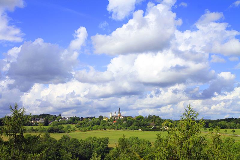 Uitzicht op Kloster Steinfeld